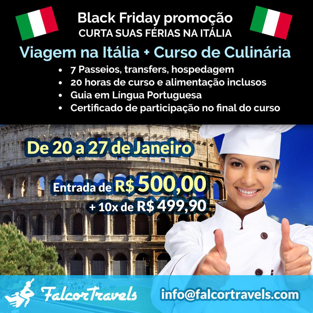 BLACK FRIDAY VIAGEM A ITÁLIA
